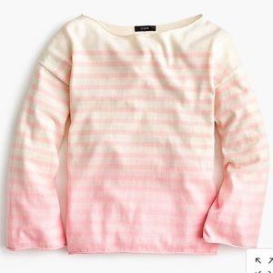 J. Crew pink stripe sweater XL